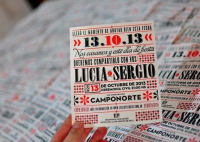 Tarjetas para Lucia y Sergio